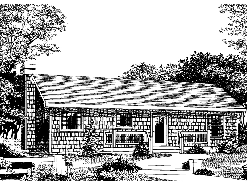 Ranch House Plan Front Image of House - 015D-0009 | House Plans and More