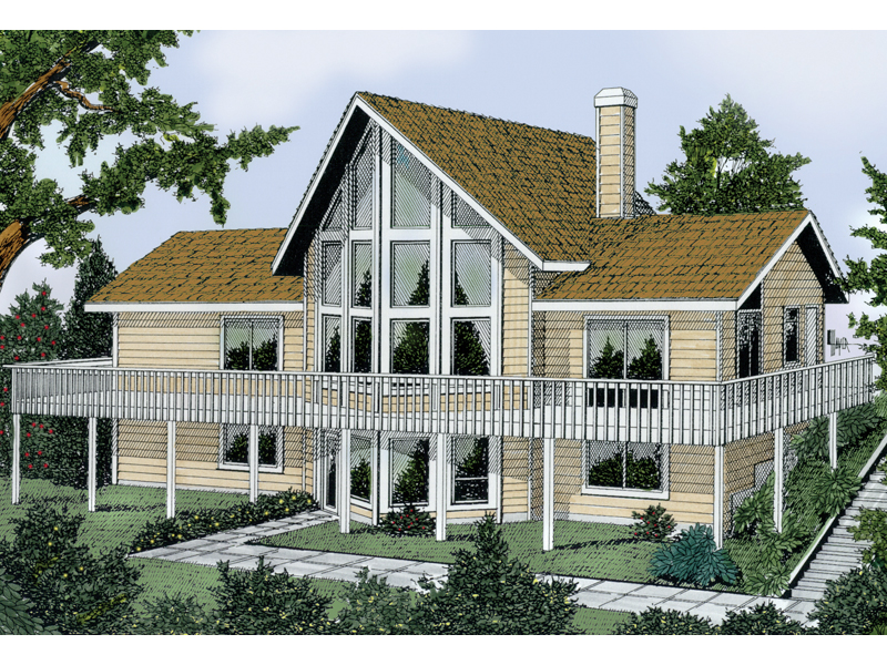 Tinsley A Frame Vacation Home Plan 015D 0010 House Plans And More