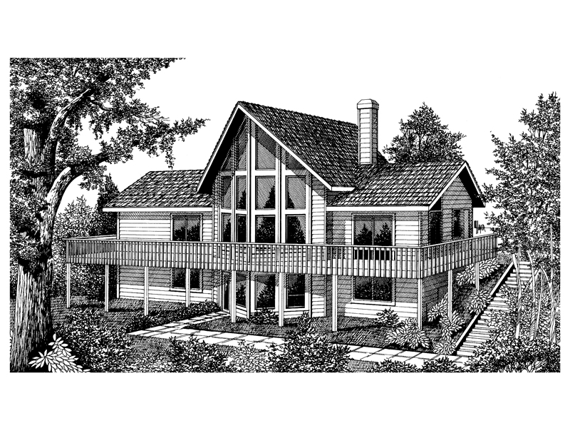 A-Frame House Plan Front Image of House - 015D-0010 | House Plans and More