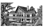 Vacation House Plan Front Image of House - 015D-0010 | House Plans and More