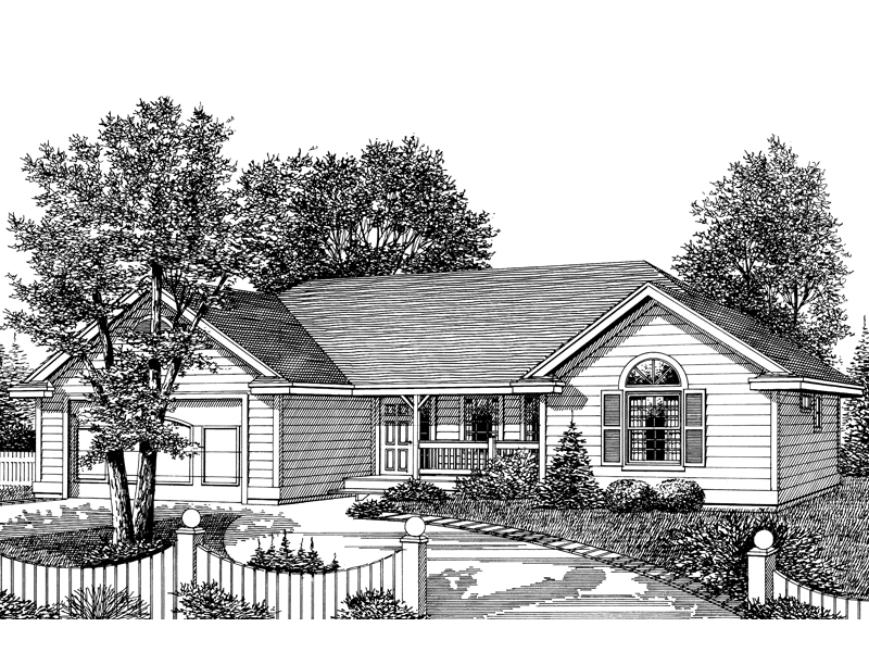 Traditional House Plan Front Image of House - 015D-0014 | House Plans and More