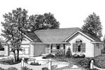 Ranch House Plan Front Image of House - 015D-0014 | House Plans and More