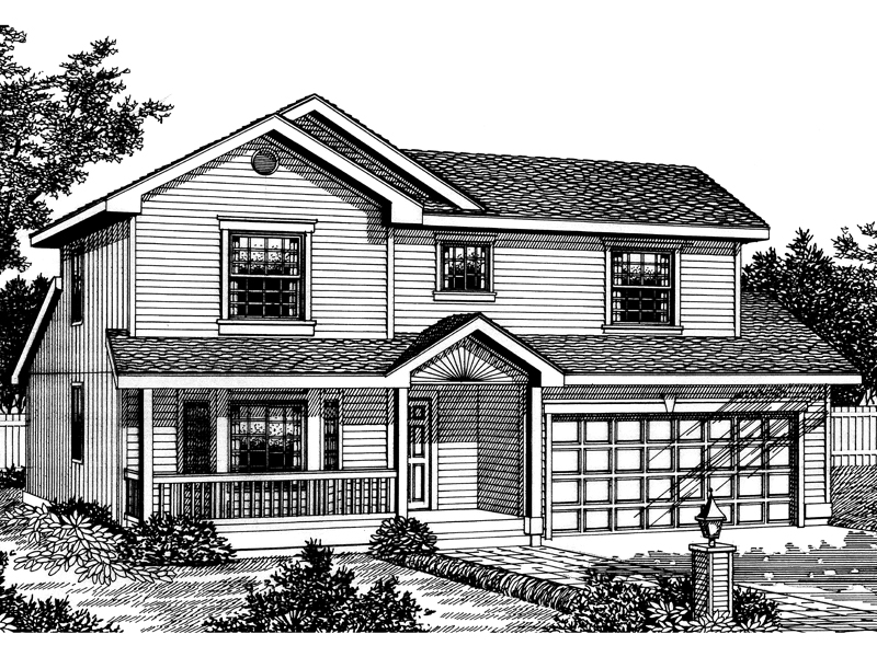 Craftsman House Plan Front Image of House - 015D-0022 | House Plans and More