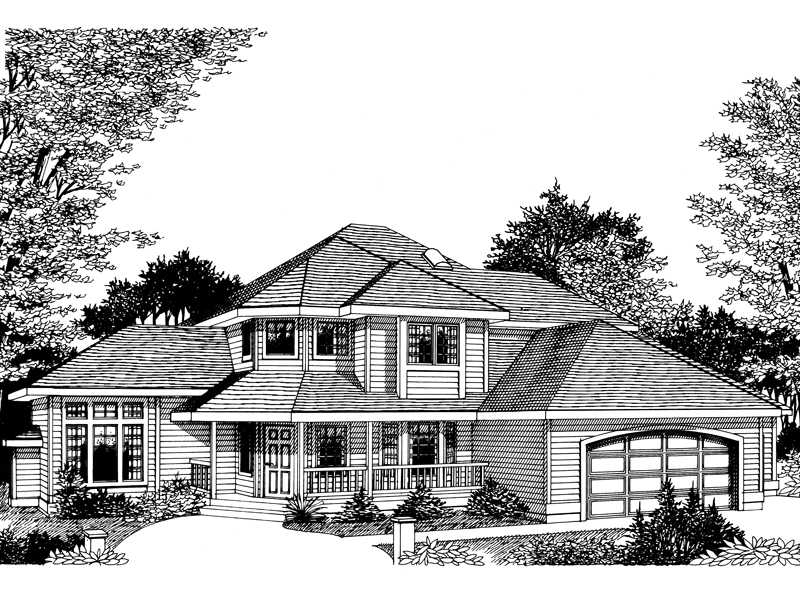 Craftsman House Plan Front Image of House - 015D-0027 | House Plans and More