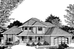 Arts & Crafts House Plan Front Image of House - 015D-0027 | House Plans and More