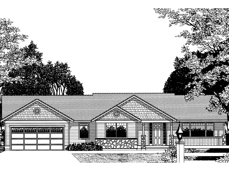 Country House Plan Front Image of House - 015D-0029 | House Plans and More