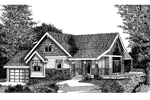 Craftsman House Plan Front Image of House - 015D-0038 | House Plans and More