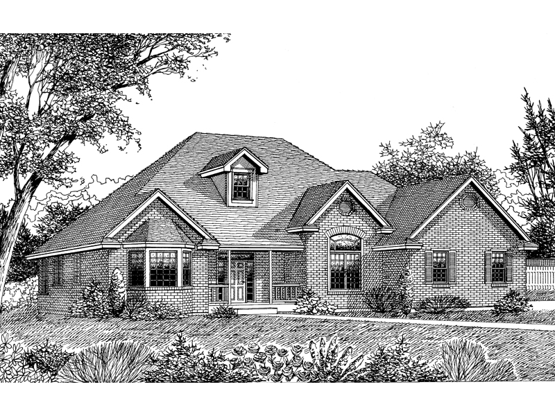 Country House Plan Front Image of House - 015D-0043 | House Plans and More