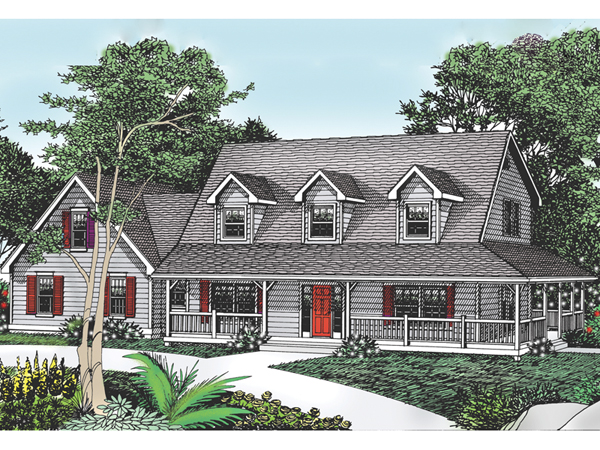 Cottage hill cape cod style home plan 015d 0045 house for Single story cape cod house plans