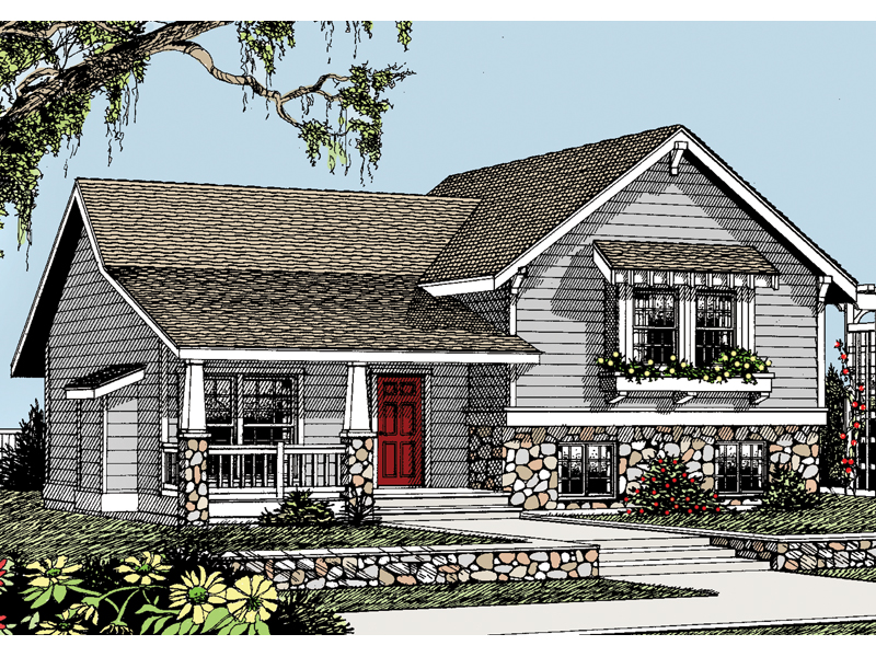 Cabin and Cottage Plan Front of Home 015D-0046