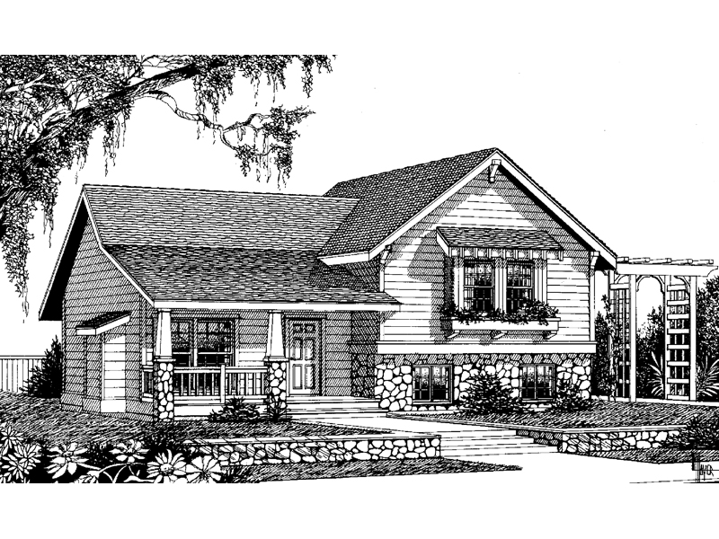 Cabin and Cottage Plan Front Image of House - 015D-0046 | House Plans and More