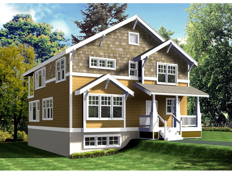 Pillman Shingle Craftsman Home Plan 015d 0075 House