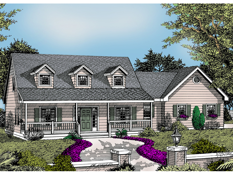 Duncan cape cod country home plan 015d 0096 house plans for Country cape cod house plans