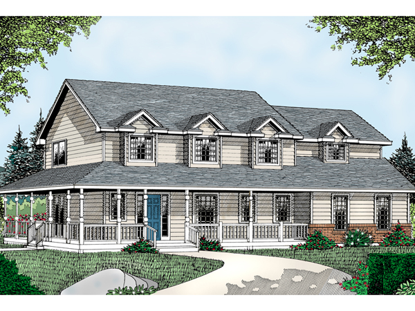 Dalton farm country home plan 015d 0106 house plans and more for 2 story farmhouse