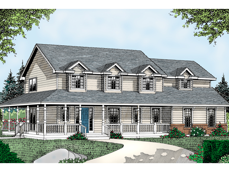 Dalton farm country home plan 015d 0106 house plans and more for House plans 2 story farmhouse