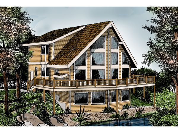 Indian grove rustic a frame home plan 015d 0107 house for House plans with lots of windows