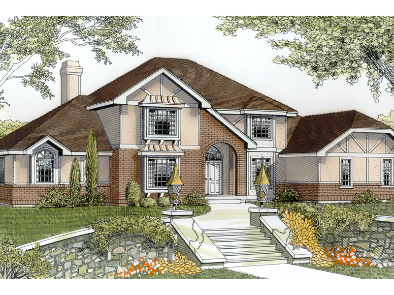 Iberia pond country french home plan 015d 0144 house for French tudor house plans