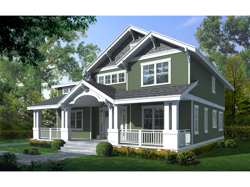 carters hill craftsman home plan 015d 0208 house plans ForTwo Story Craftsman