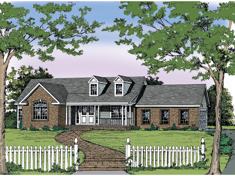 Ranch House Plan Front Image - 016D-0001 | House Plans and More