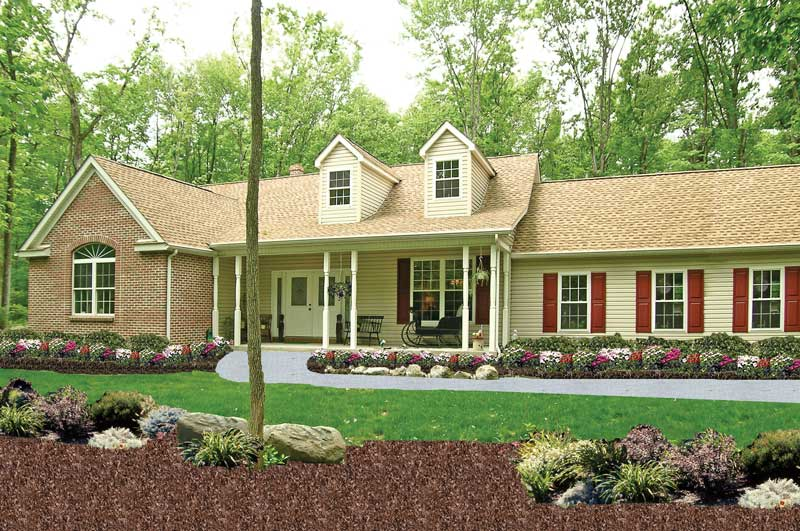 Country Ranch Home With Double Dormers