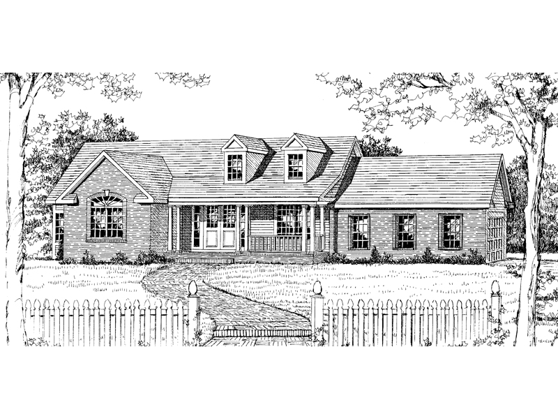 Southern House Plan Front Image of House - 016D-0001 | House Plans and More