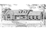 Country House Plan Front Image of House - 016D-0001 | House Plans and More
