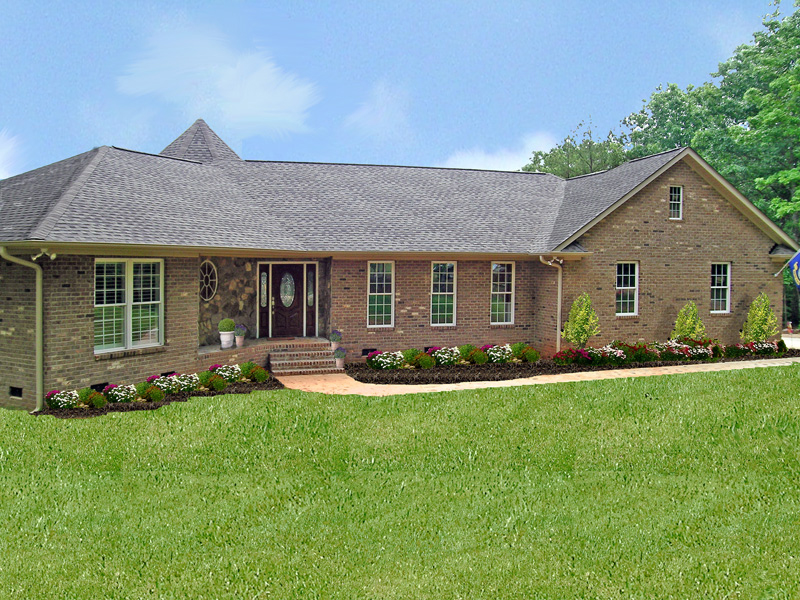 Country House Plan Front of Home 016D-0002