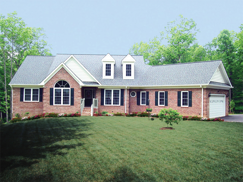 Country House Plan Front of Home 016D-0005