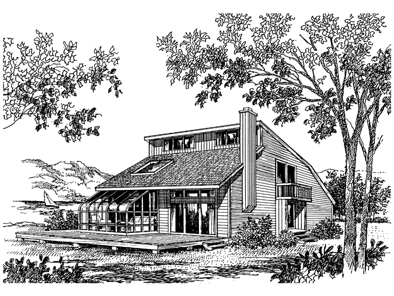 Lake House Plan Front of Home - 016D-0010 | House Plans and More