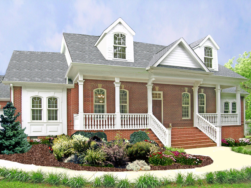 Traditional House Plan Front of Home 016D-0018