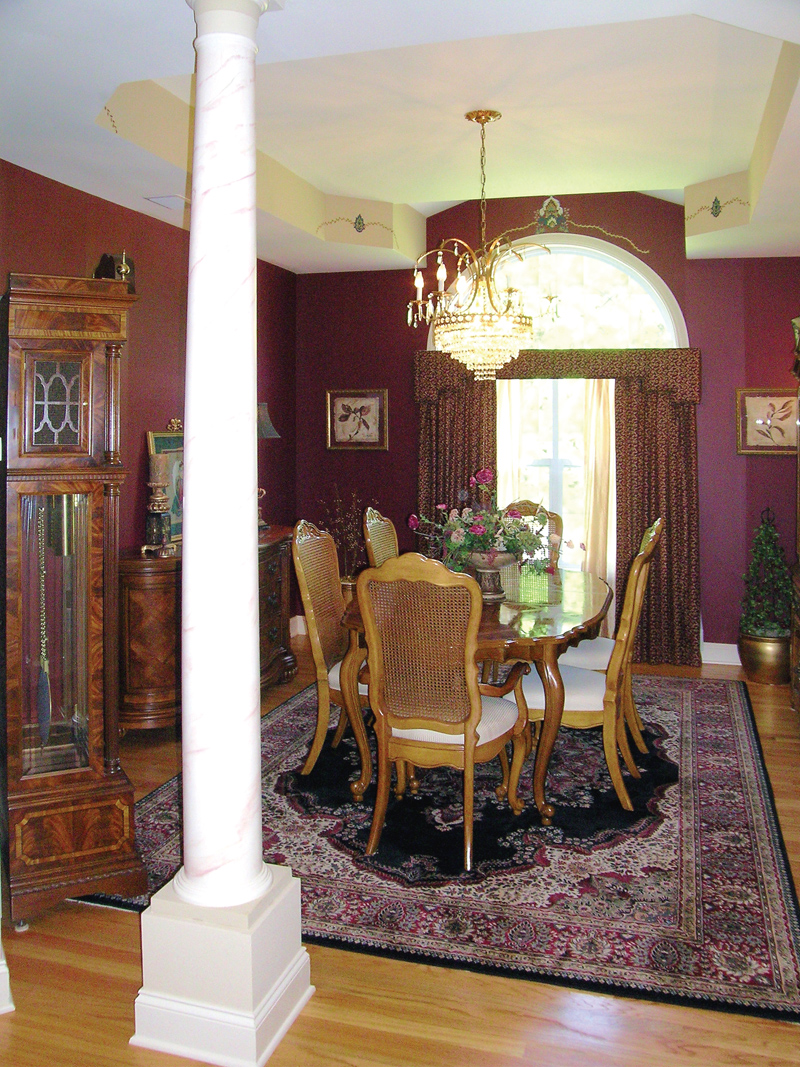 Ranch House Plan Dining Room Photo 01 016D-0023