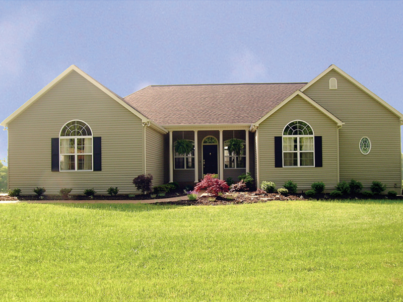 Ranch House Plan Front of Home 016D-0023