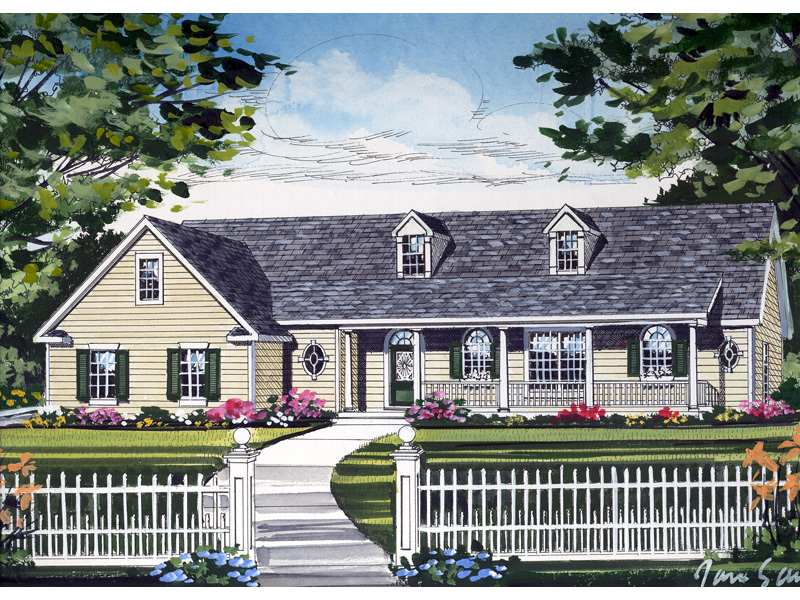 Traditional House Plan Front of Home 016D-0027