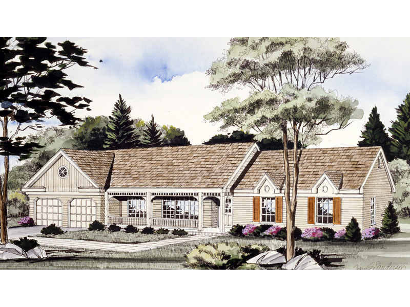Home With Attractive Gabled Roofline