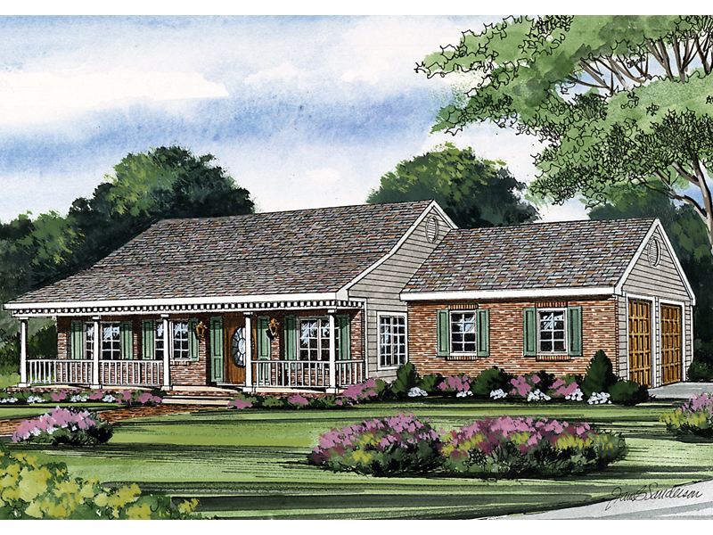 Country House Plan Front of Home - 016D-0041 | House Plans and More