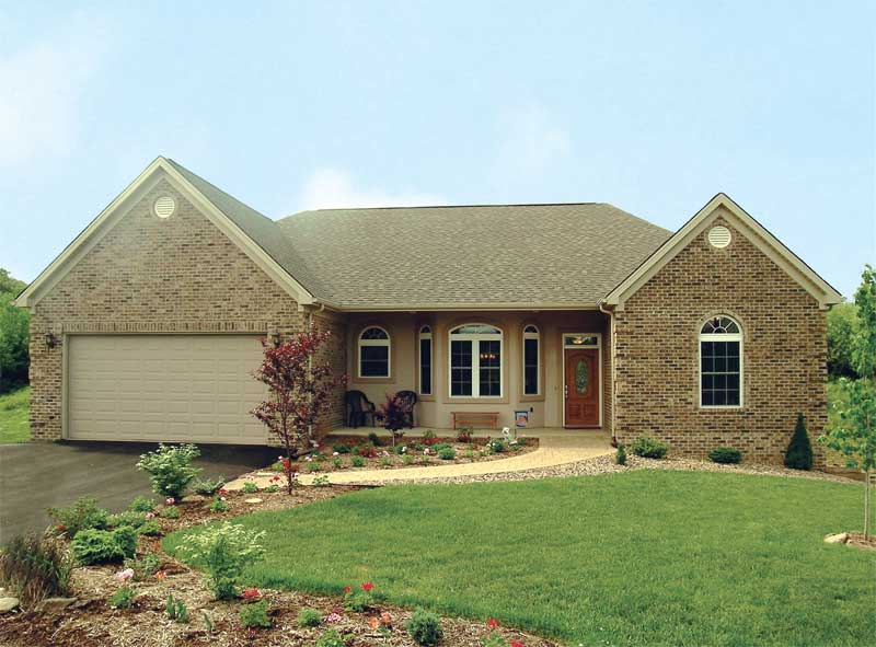 Ranch House Plan Front of Home 016D-0047