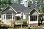Southern House Plan Rear Porch Photo - 016D-0047 | House Plans and More