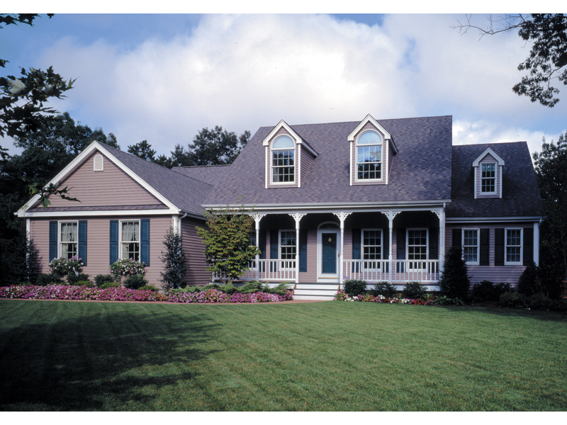 country style home with inviting covered porch - 2 Story Country House Plans