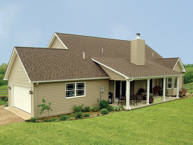 Ranch House Plan Rear Photo 02 - 016D-0049 | House Plans and More