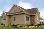 Ranch House Plan Side View Photo 01 - 016D-0049 | House Plans and More