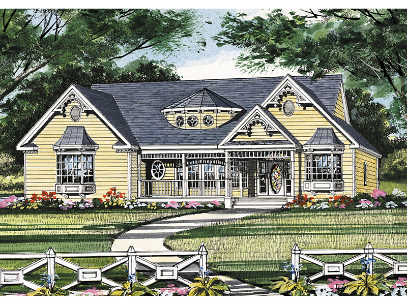 Ranch House Plan Front Image - 016D-0053 | House Plans and More