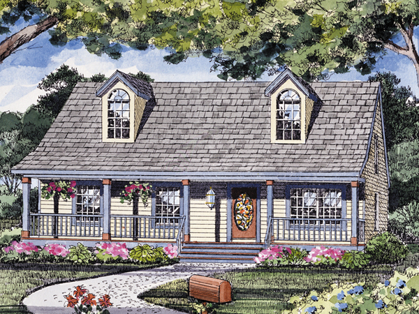 Reddington acadian ranch home plan 016d 0055 house plans for Small acadian house plans