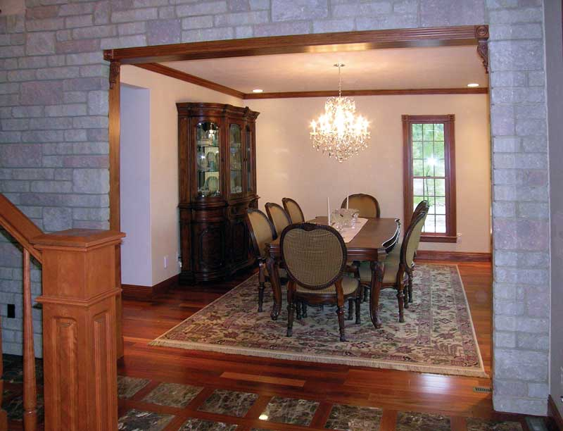 Country House Plan Dining Room Photo 01 016D-0058