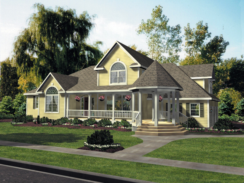 Country House Plan Front Image 016D-0058