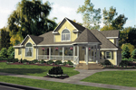 Victorian House Plan Front Image - 016D-0058 | House Plans and More