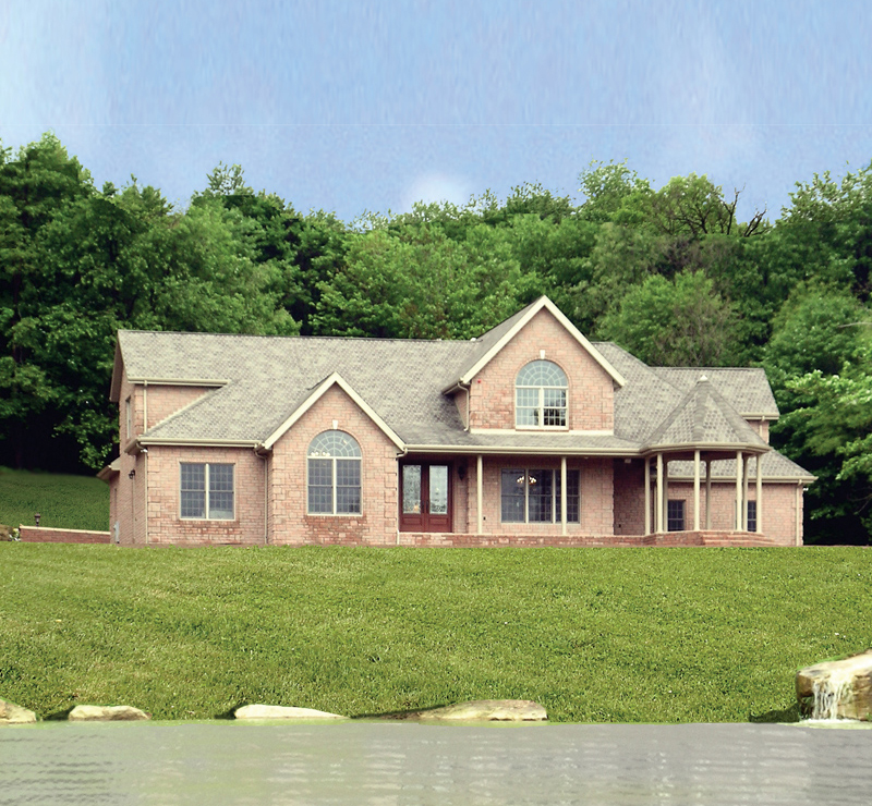 Traditional House Plan Front Photo 01 016D-0058