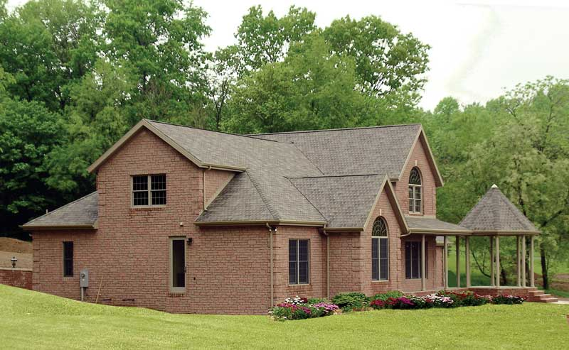 Traditional House Plan Side View Photo 01 016D-0058