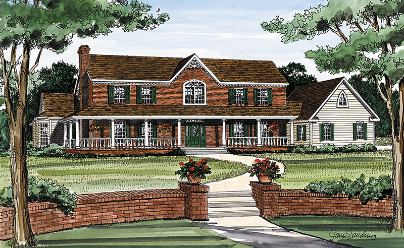 Farmhouse Home Plan Front Image 016D-0059