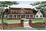 Farmhouse Home Plan Front Image - 016D-0059 | House Plans and More