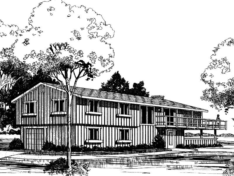 Practical Two-Story Home With Hanging Porch